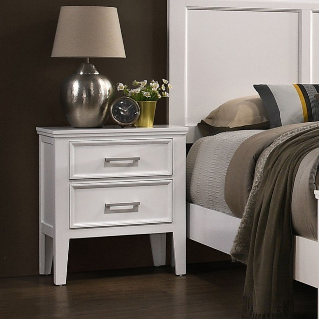 Andover Nightstand White By New Classic Furniture