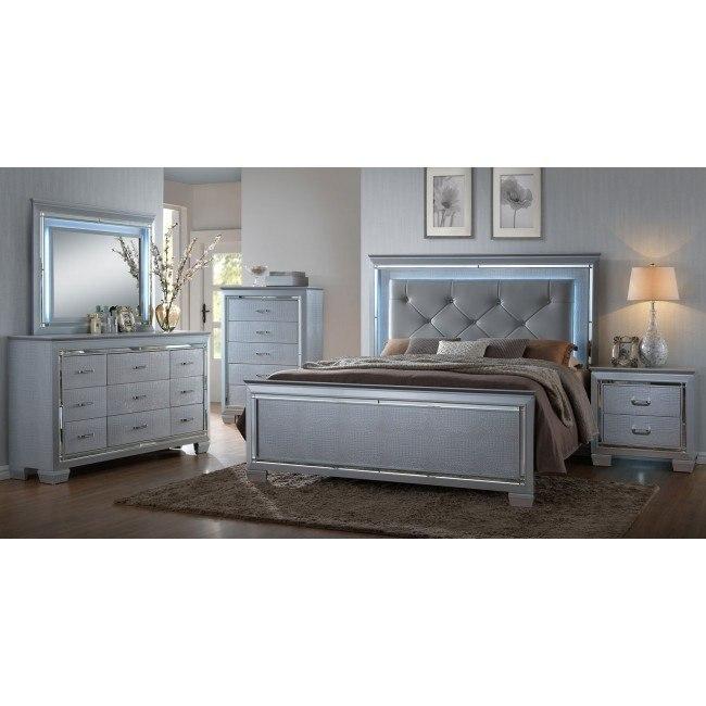 Lillian Panel Bedroom Set By Crown Mark Furniture