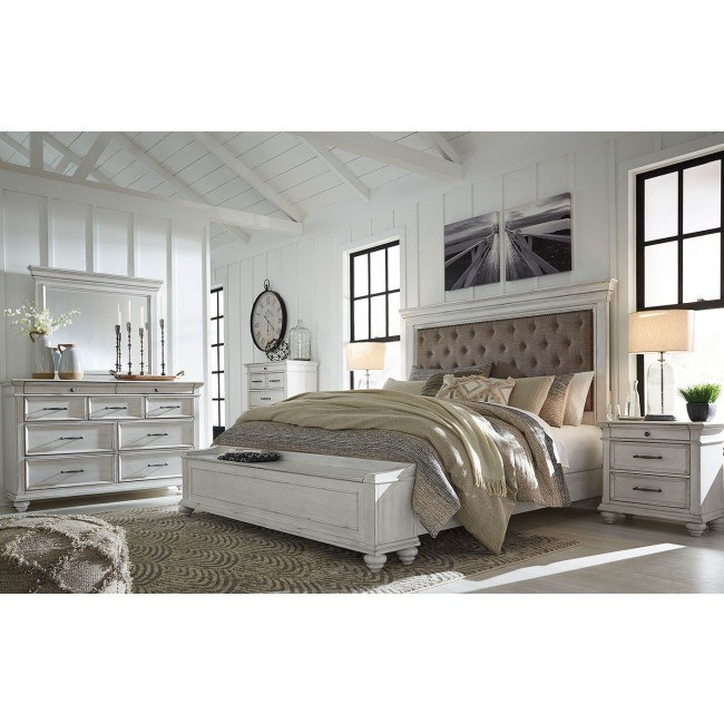 Kanwyn Upholstered Storage Bedroom Set By Signature Design By