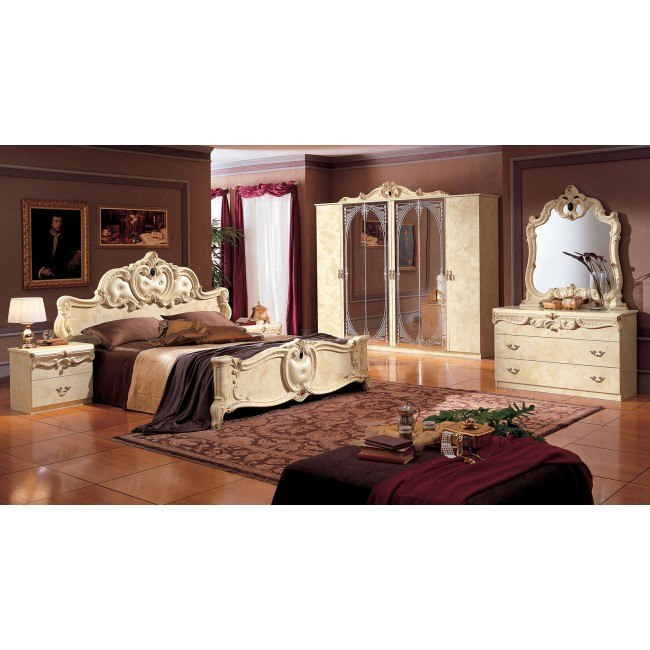 Barocco Bedroom Set (Ivory)
