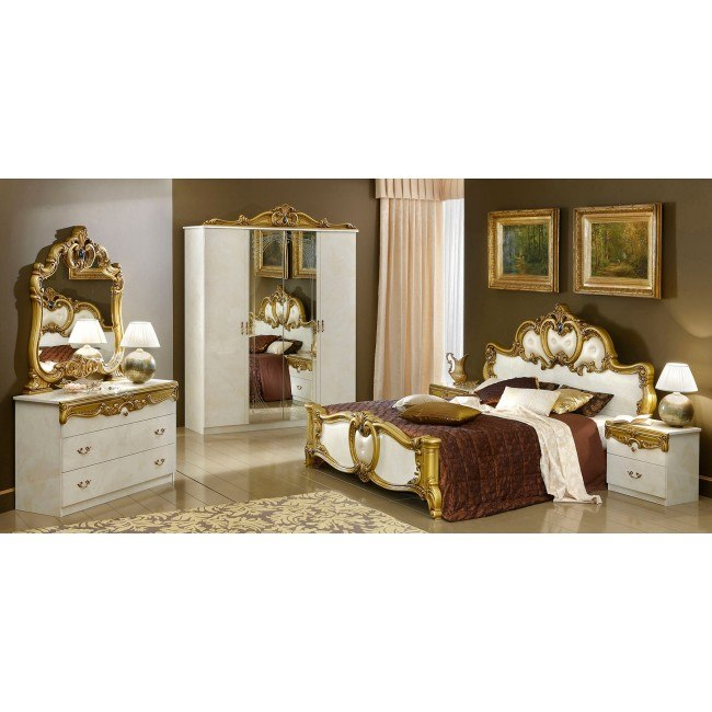 Barocco Bedroom Set (Ivory and Gold)