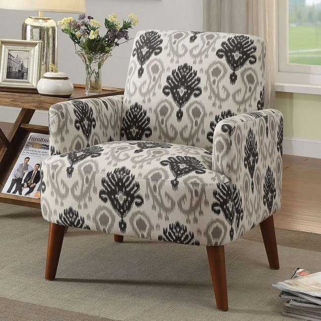 Bray Accent Chair Floral Pattern Living Room Furniture Living