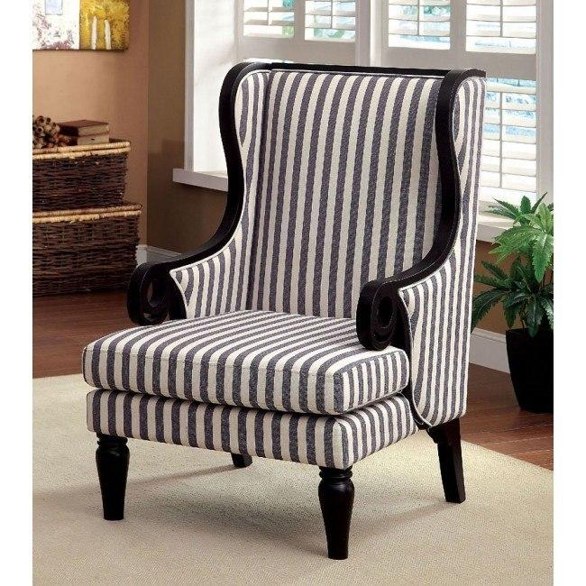 Riviera Striped Accent Chair By Furniture Of America Furniturepick