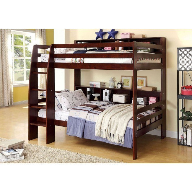 Camino Bunk Bedroom Set (Dark Walnut)
