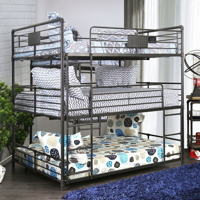 Olga II Full Triple Decker Bunk Bed