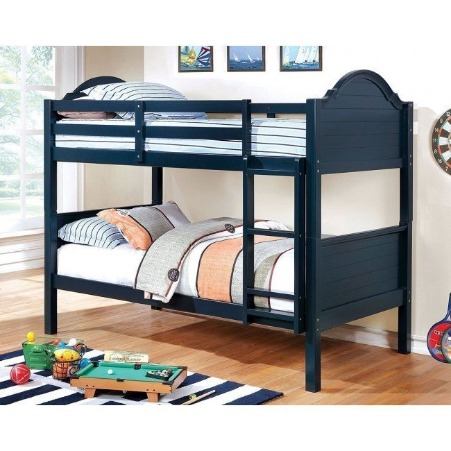 Denise Twin over Twin Bunk Bed (Blue)