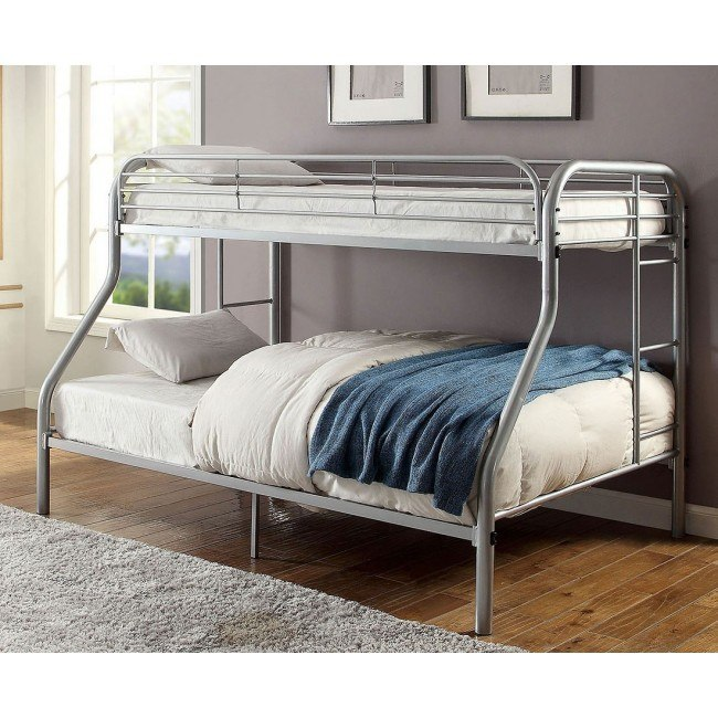 Opal Twin over Full Bunk Bed (Silver)