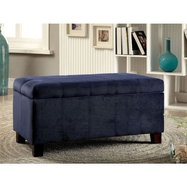 Groovy Remi Navy Storage Ottoman Machost Co Dining Chair Design Ideas Machostcouk