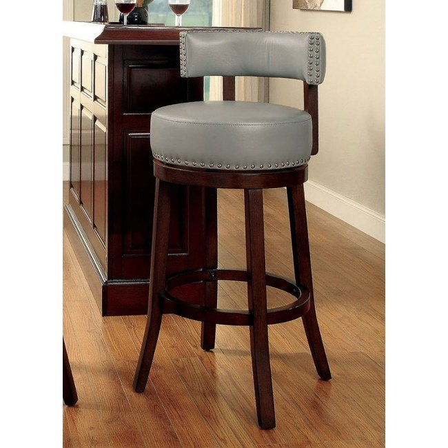 Shirley 25 Inch Swivel Bar Stool Gray Set Of 2 By Furniture Of