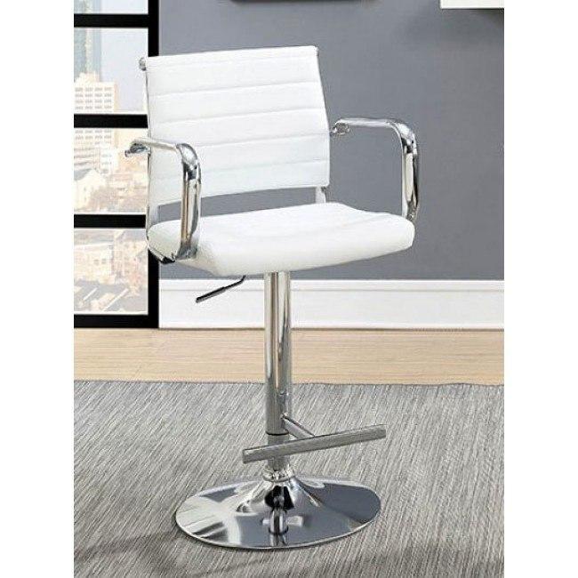 Sedona Adjustable Bar Stool (White)