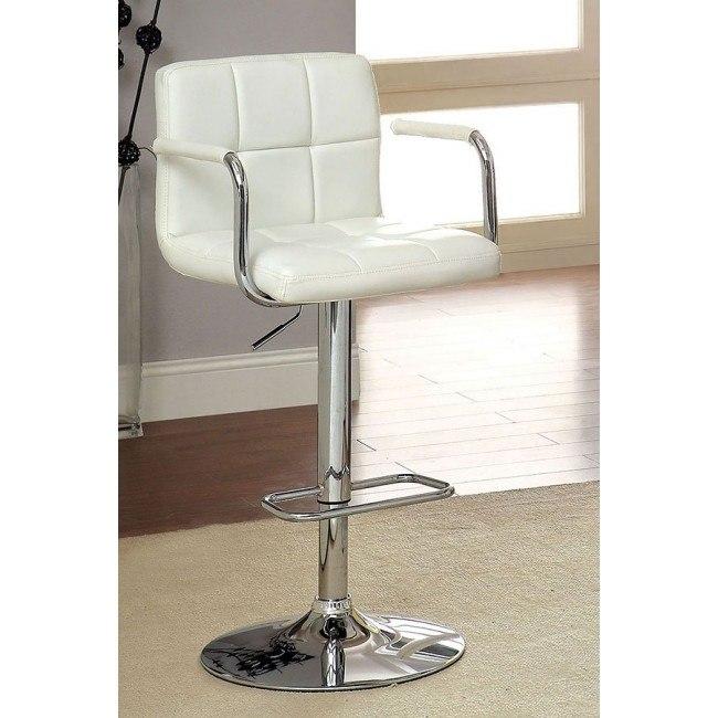 Corfu Adjustable Height Swivel Bar Stool (White)