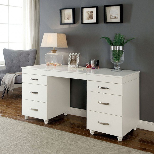 buy online 7e2b9 02ce4 Verviers Vanity Desk w/ Lift Top Mirror