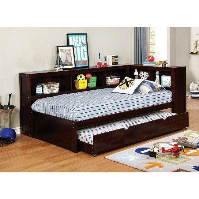 Frankie Daybed Bedroom Set (Dark Walnut)