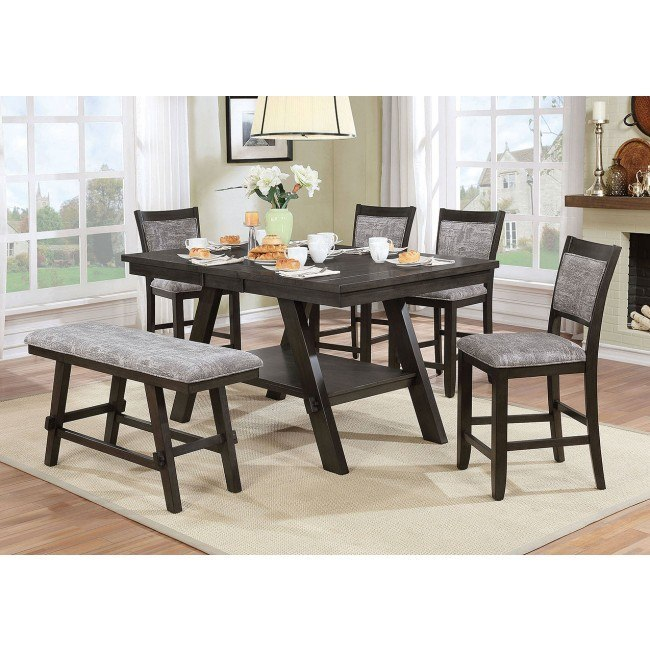 Tollerson Counter Height Dining Room Set w/ Bench