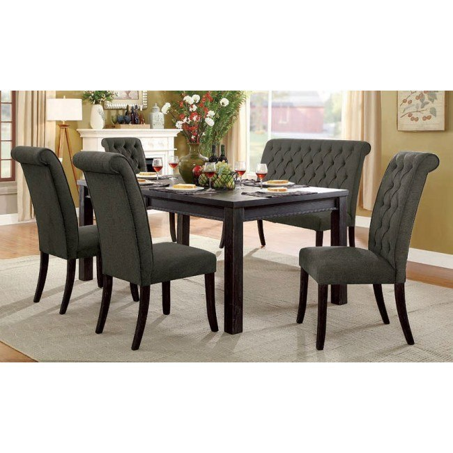 Super Sania Iii 72 Inch Dining Room Set W Gray Chairs And Bench Ocoug Best Dining Table And Chair Ideas Images Ocougorg