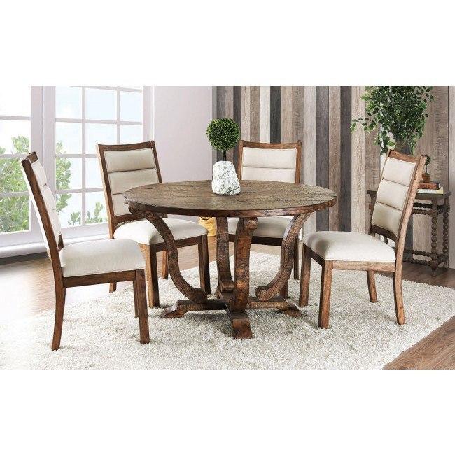 Isabelle Dining Room Set (Antique Oak)