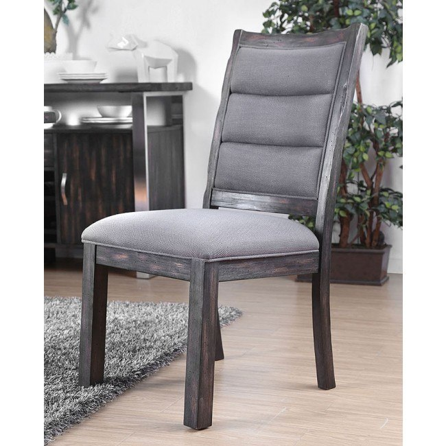Mandy Side Chair (Antique Gray) (Set of 2)