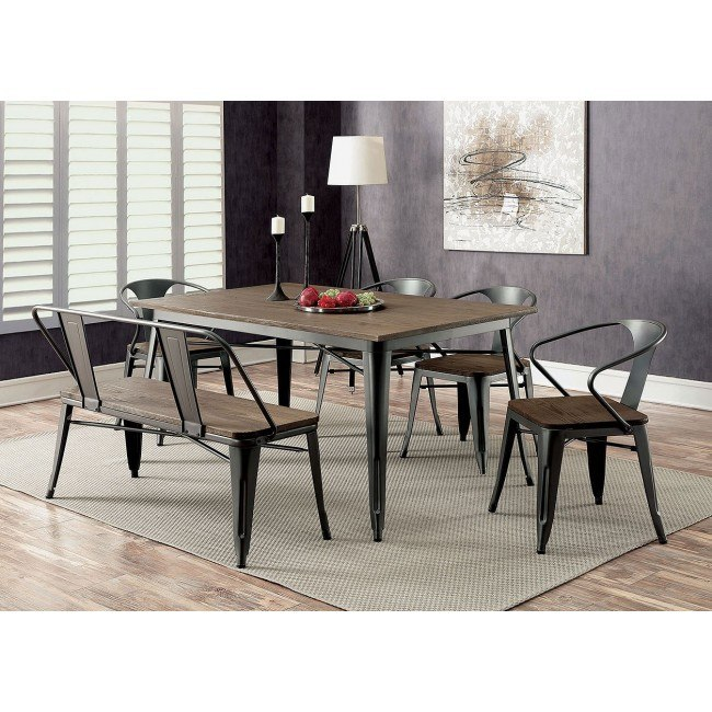 Cooper I Dining Room Set w/ Bench (Gray)