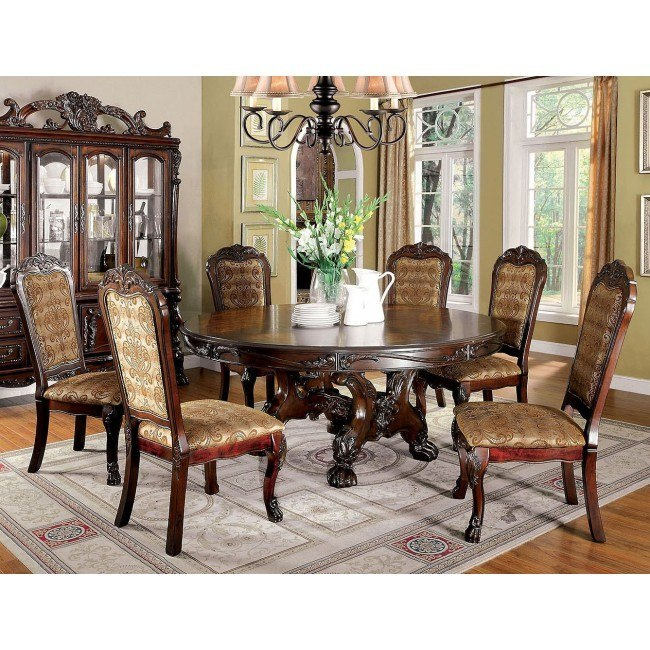 Delicieux Medieve Round Dining Room Set (Cherry)