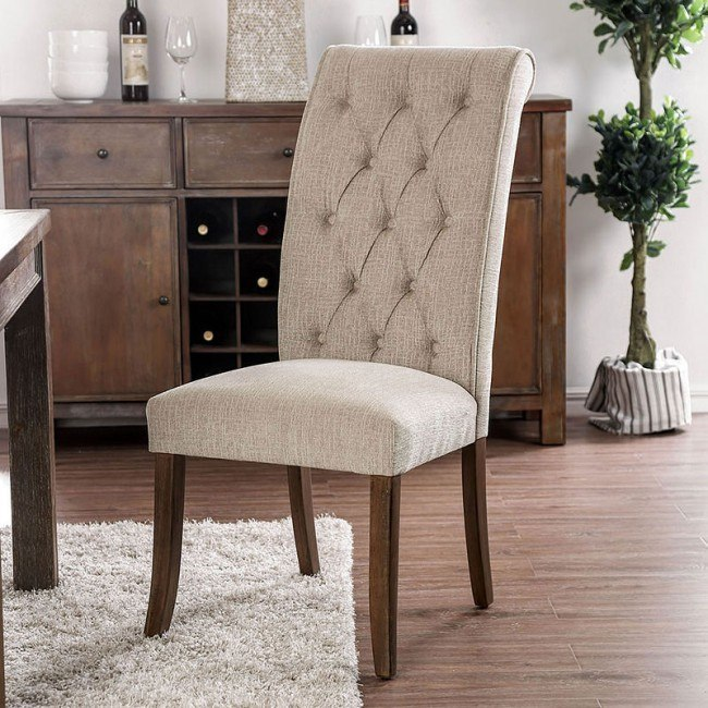 Marshall Side Chair (Beige) (Set of 2)