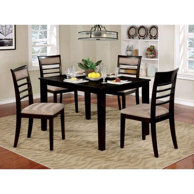 Fafnir 5-Piece Dining Room Set (Espresso)