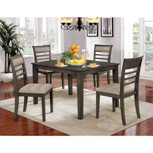 Fafnir 5-Piece Dining Room Set (Gray)