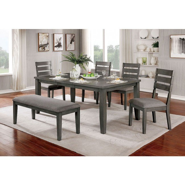 Viana Expandable Dining Room Set W