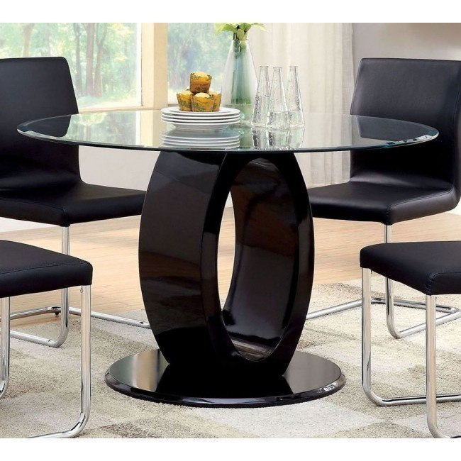 Lodia I Black Round Dining Table