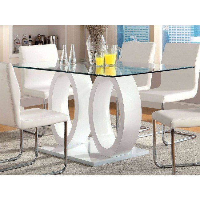 Lodia I White Dining Table
