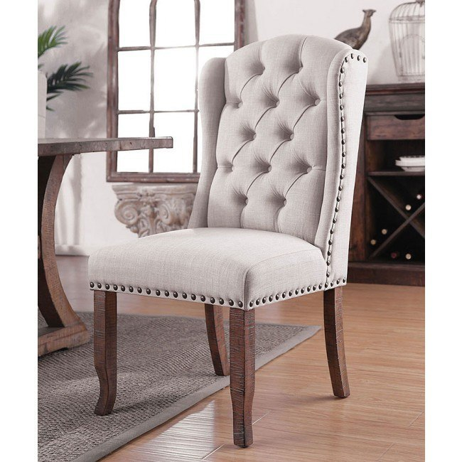 Gianna Ivory Wingback Chair (Set of 2)
