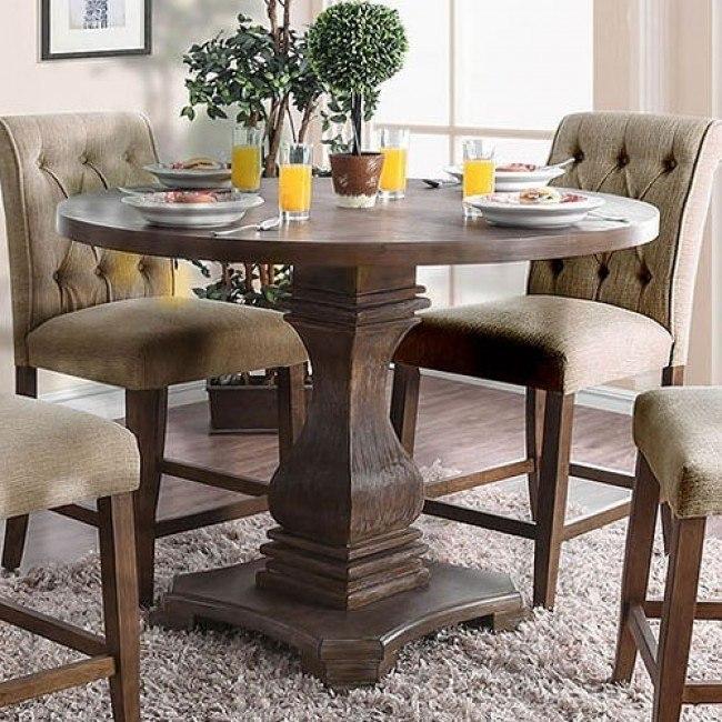 Nerissa Counter Height Table (Antique Oak) - Nerissa Counter Height Table (Antique Oak) - Dining Room And Kitchen