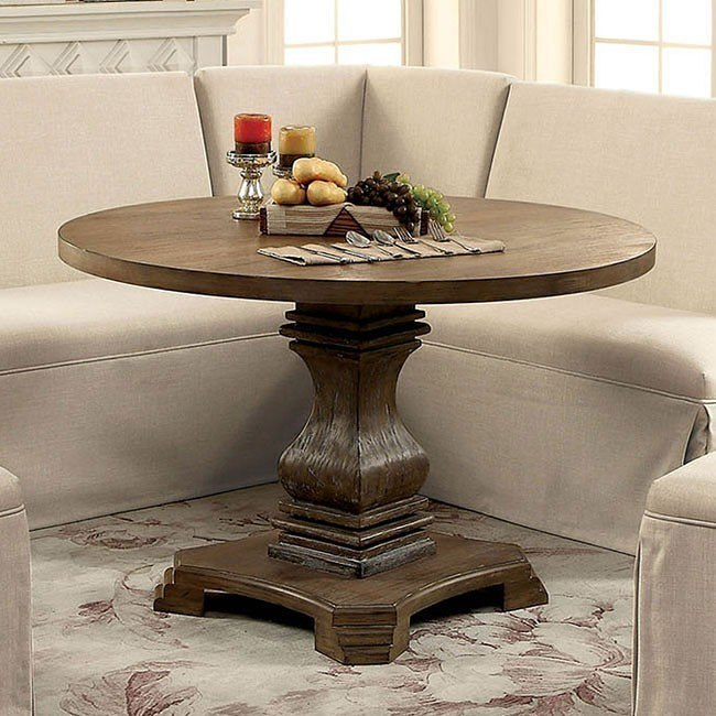 Nerissa Round Dining Table (Antique Oak)