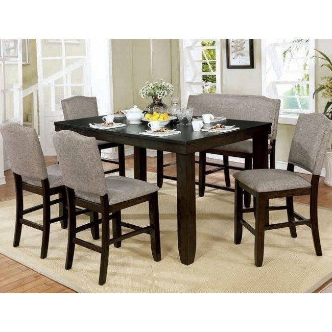 Teagan Counter Height Dining Room Set w/ Bench