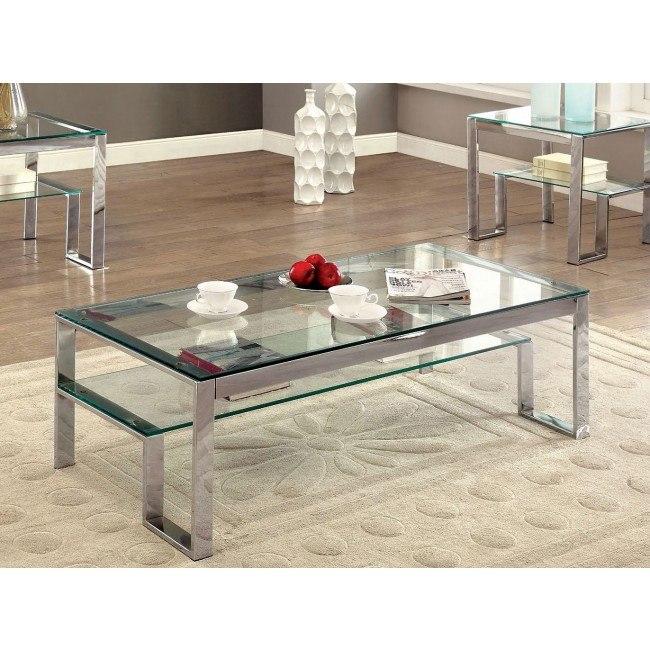 Nikita Coffee Table (Chrome)