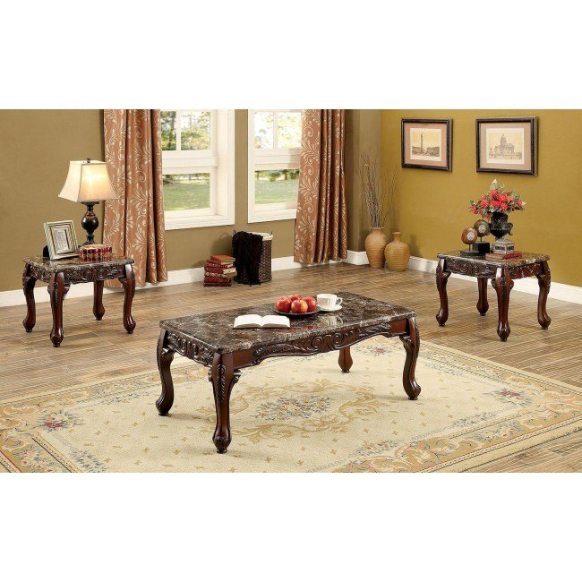 Lechester 3-Piece Occasional Table Set (Brown)