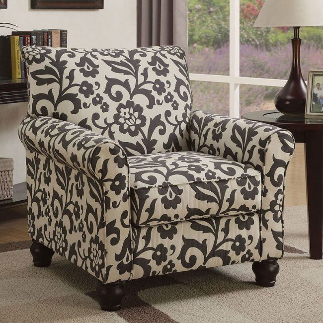 Clea Floral Accent Chair Living Room Furniture Living