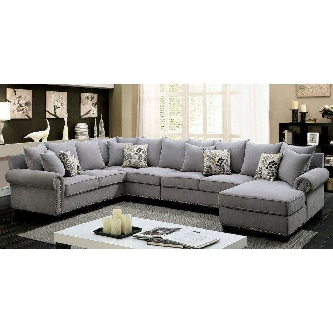 Skyler Sectional Gray By Furniture Of America 1 Review