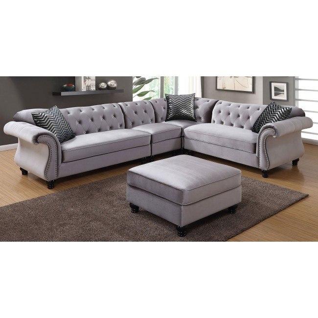 Jolanda Sectional Living Room Set (Gray)