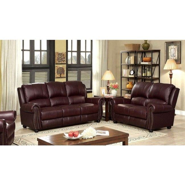 Turton Living Room Set Burgundy