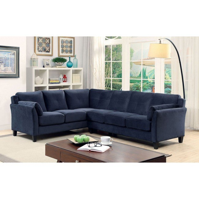 Peever II Sectional (Navy)