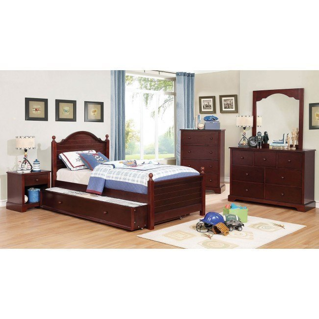 Diane Youth Bedroom Set Cherry By Furniture Of America