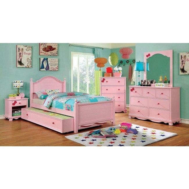 Dani Youth Panel Bedroom Set (Pink)