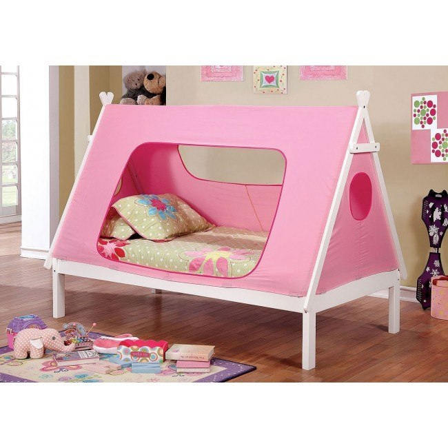 Debra Twin Bed (Pink and White)