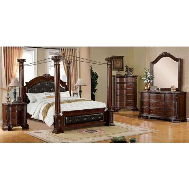 Mandalay Canopy Bedroom Set By Furniture Of America Furniturepick