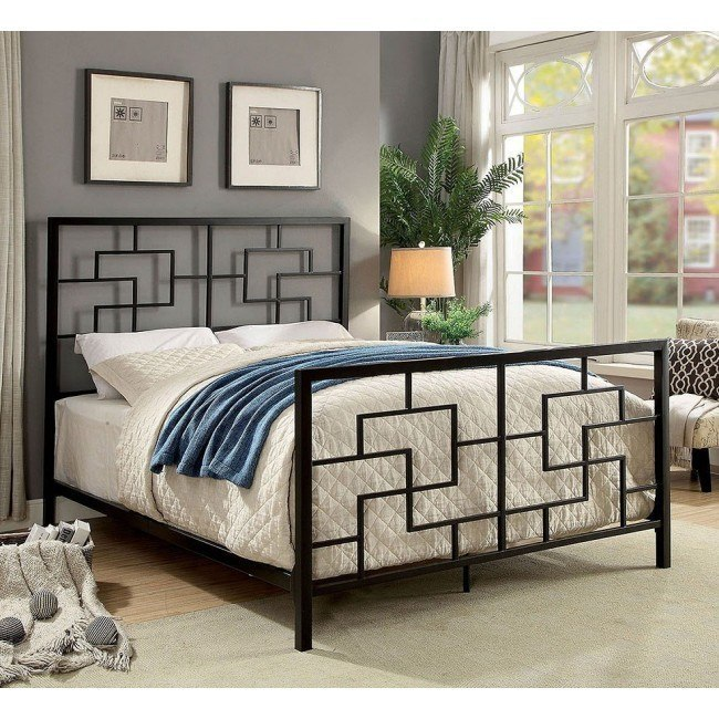 Lala Metal Platform Bed (Dark Bronze)