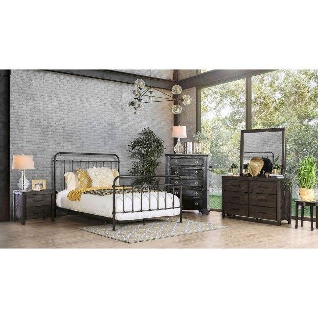 Iria Metal Bedroom Set (Dark Bronze)