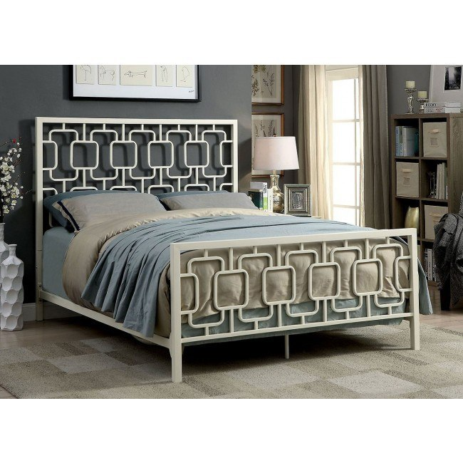 Cece Metal Bed (White)