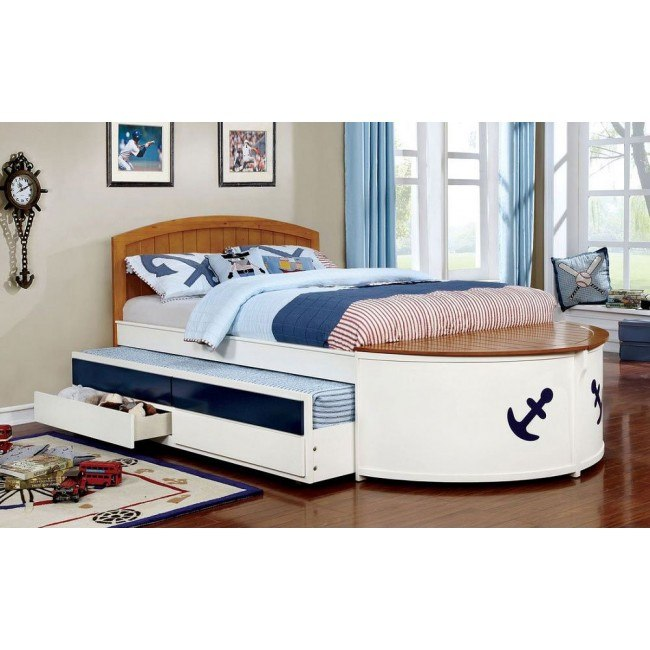 Voyager Full Captain Bed w/ Trundle and Drawers