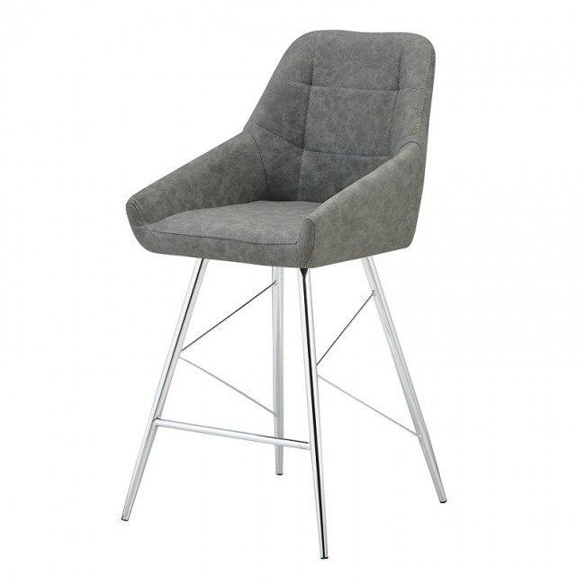 D1067 Grey Barstool (Set of 2)