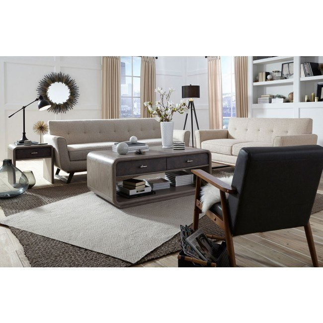 Urban Eclectic Button Tufted Living Room Set